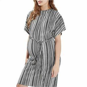 bdc9e92543 Topshop Stripe Plissé Batwing Maternity Dress. NWT